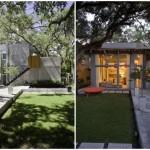 บ้านโมเดิร์นปูนเปลือย ขนาดเล็กกะทัดรัด ให้อารมณ์ดิบๆ รับกันสวนหย่อมร่มรื่น