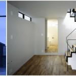 บ้านเดี่ยวหัวมุม ออกแบบหน้าแคบ สามชั้น ภายในโมเดิร์นมินิมอล