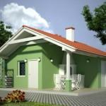 บ้านสวนสไตล์ร่วมสมัย ที่เรียบง่ายขนาดกะทัดรัด เหมาะกับครอบครัวแรกเริ่ม