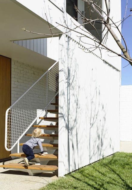 Modern Home white battens (1)