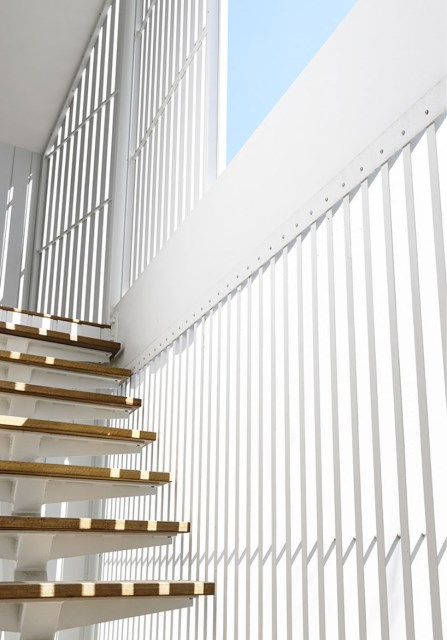 Modern Home white battens (7)