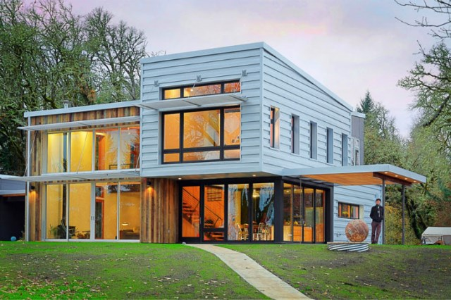 Modern home Beautiful shapes and colors recycled materials (13)