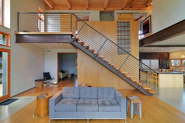 Modern home Beautiful shapes and colors recycled materials (14)