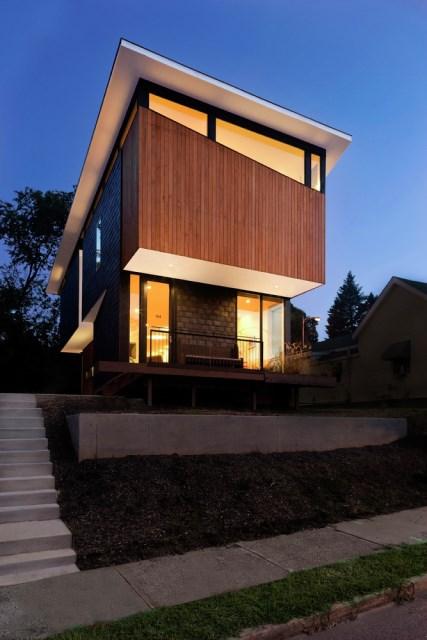Modern house modern shape mixing materials (10)