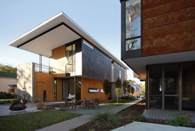 Modern house modern shape mixing materials (17)