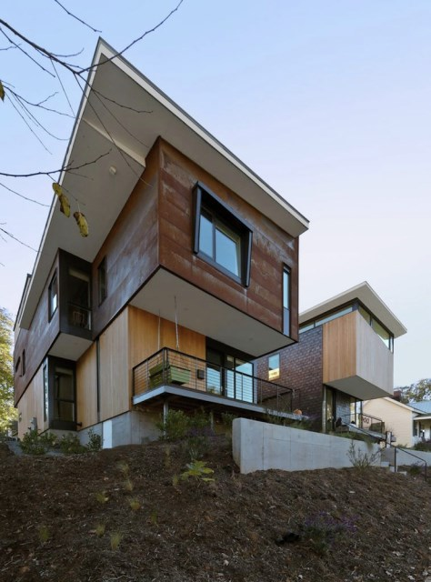 Modern house modern shape mixing materials (18)