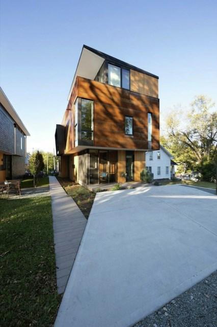 Modern house modern shape mixing materials (5)