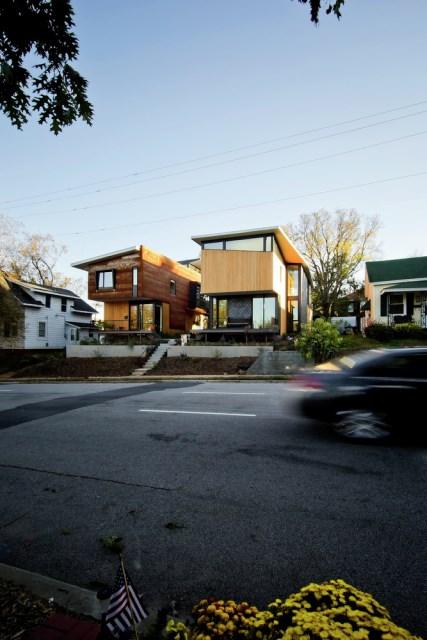 Modern house modern shape mixing materials (9)