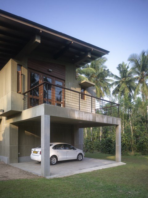 Modern villa cement houses Two-storey house (13)