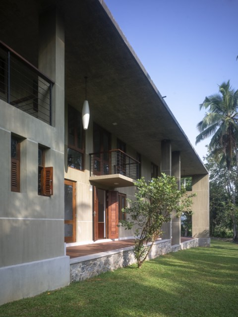 Modern villa cement houses Two-storey house (8)