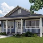 แบบบ้านคอทเทจสีฟ้า หลังคาทรงจั่ว เรียบง่ายดั้งเดิม ให้อารมณ์บ้านสวน