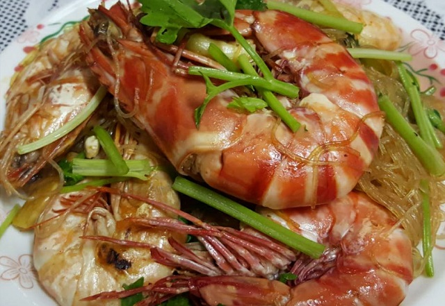 casseroled shrimps with glass noodles recipe (2)
