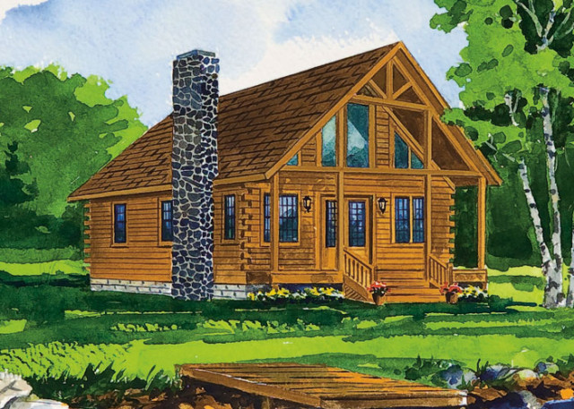 country gable log cabin (2)