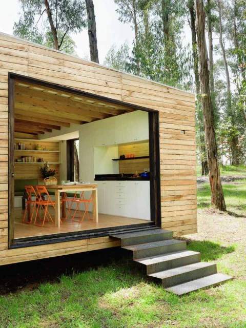 studio Small home Decorated with modern shapes (10)