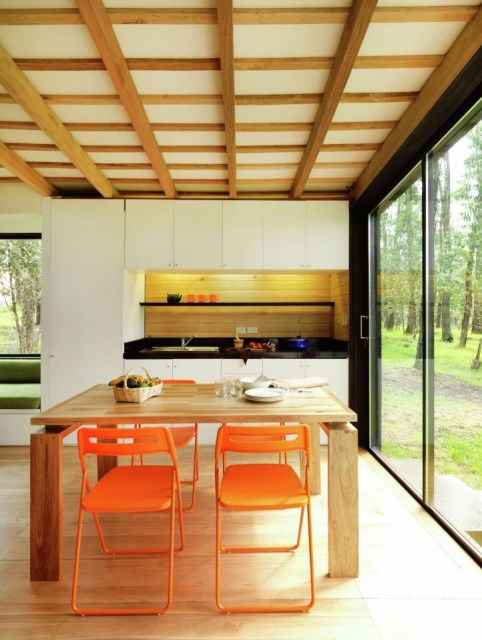 studio Small home Decorated with modern shapes (14)