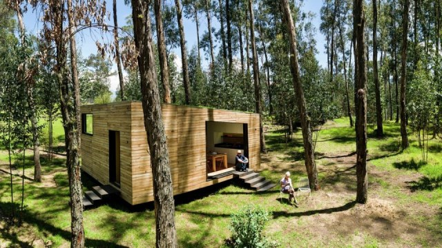 studio Small home Decorated with modern shapes (4)