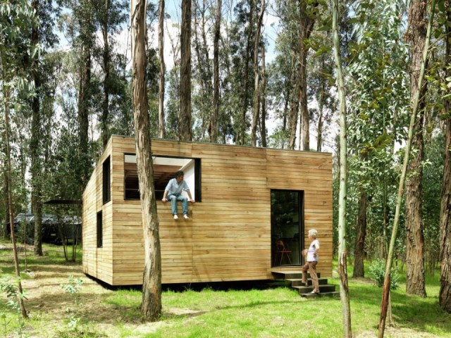 studio Small home Decorated with modern shapes (6)