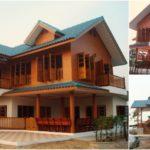 บ้านไม้ทรงไทยประยุกต์ รายล้อมไปด้วยธรรมชาติ กลางบรรยากาศชนบท