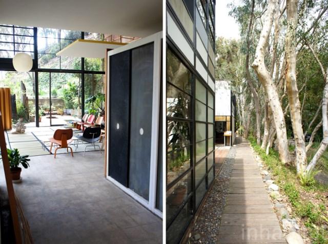 two- storey Modern home steel glass natural garden (10)