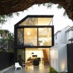 บ้านโมเดิร์นสองชั้น ออกแบบด้วยวัสดุทันสมัย ไอเดียใหญ่ๆบนพื้นที่ที่จำกัด