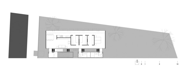 two-story house Modern style Materials from cement and wood (18)