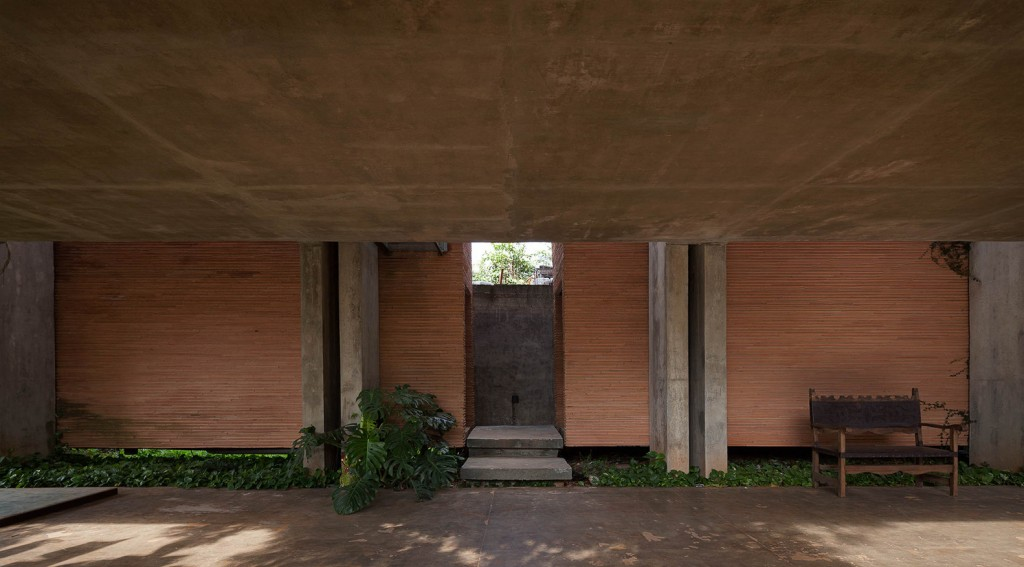 two-story house Modern style Materials from cement and wood (5)