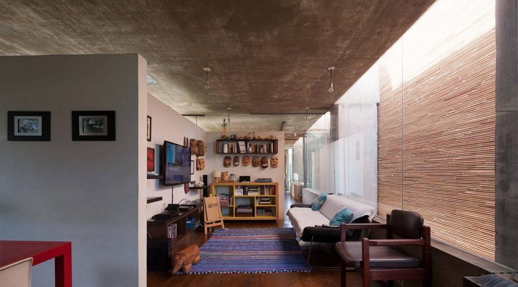 two-story house Modern style Materials from cement and wood (6)