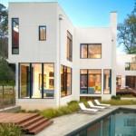 บ้านเดี่ยวพร้อมสระว่ายน้ำ ครบครันแบบวิลล่า ในสไตล์โมเดิร์นเรียบง่าย