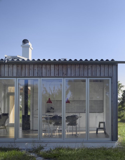 villa Modern style wood and glass (6)