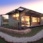 บ้านตากอากาศสไตล์โมเดิร์นเคบิน ออกแบบด้วยไม้ เหล็ก โปร่ง โล่ง น่าอยู่