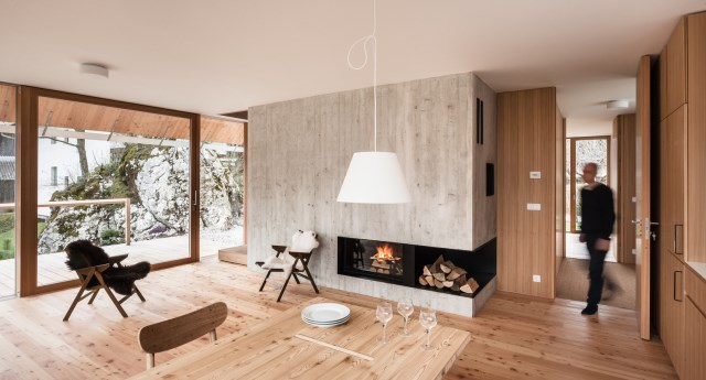 wooden Modern cottages houses Minimalist decor (5)