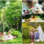 10 ไอเดียสนามเด็กเล่น ในรูปแบบบ้านกระโจม พร้อมสวนสวยร่มรื่น