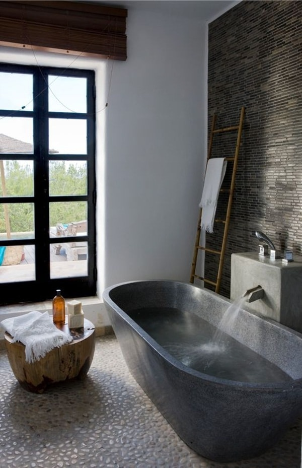 11 stone decoration ideas for bathroom (1)