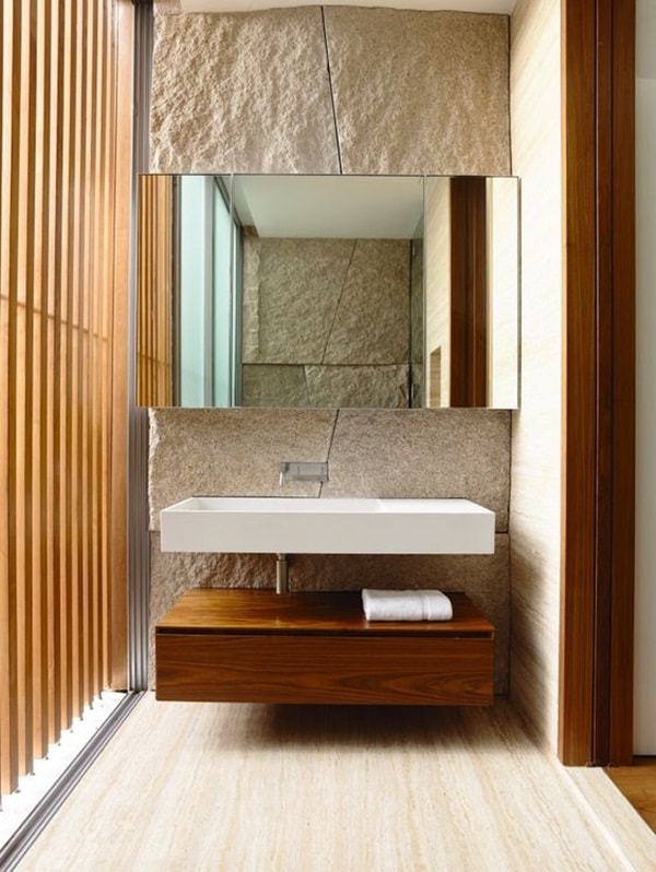 11 stone decoration ideas for bathroom (10)