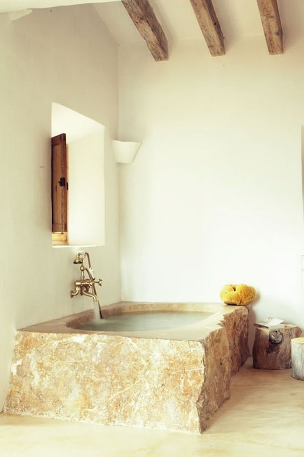 11 stone decoration ideas for bathroom (11)