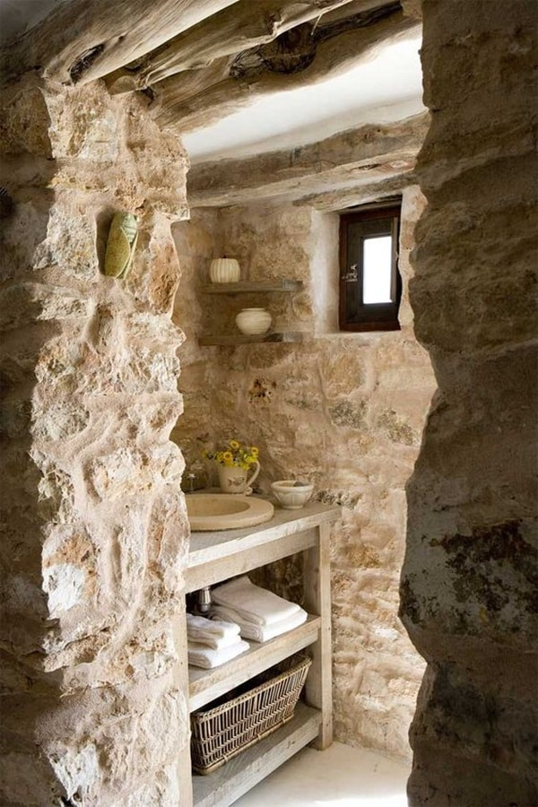 11 stone decoration ideas for bathroom (3)