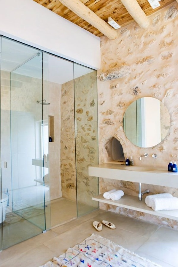 11 stone decoration ideas for bathroom (5)