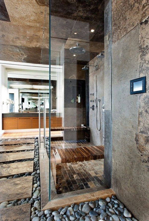 11 stone decoration ideas for bathroom (8)