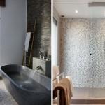 """11 ไอเดียตกแต่งพื้นผิวห้องน้ำด้วย """"หิน"""" สร้างลวดลายแบบธรรมชาติ ที่ให้ความรู้สึกเย็นสบาย"""