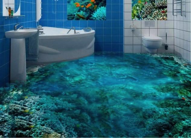 14 Unique 3D Bathroom Floor Designs (1)