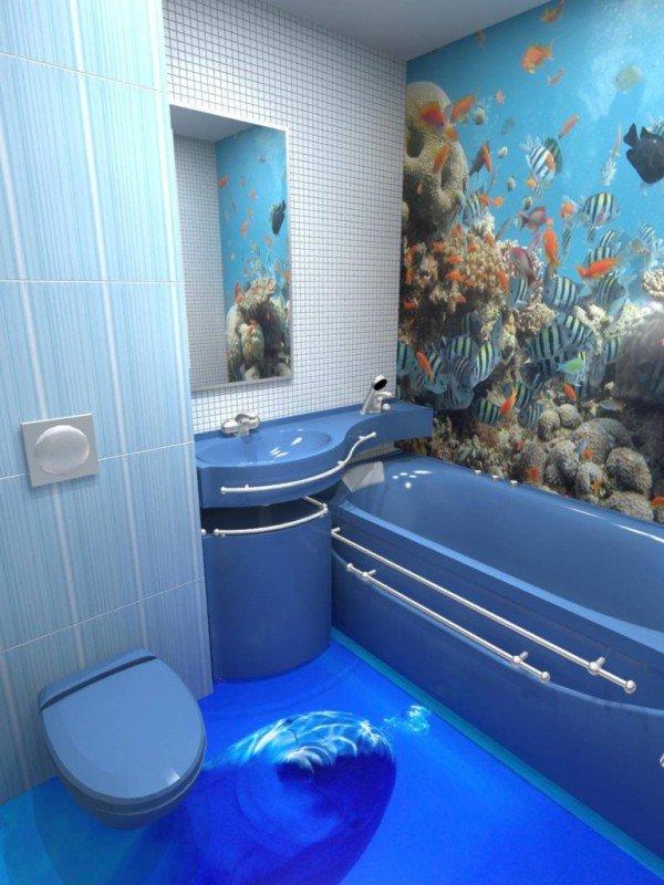 14 Unique 3D Bathroom Floor Designs (10)