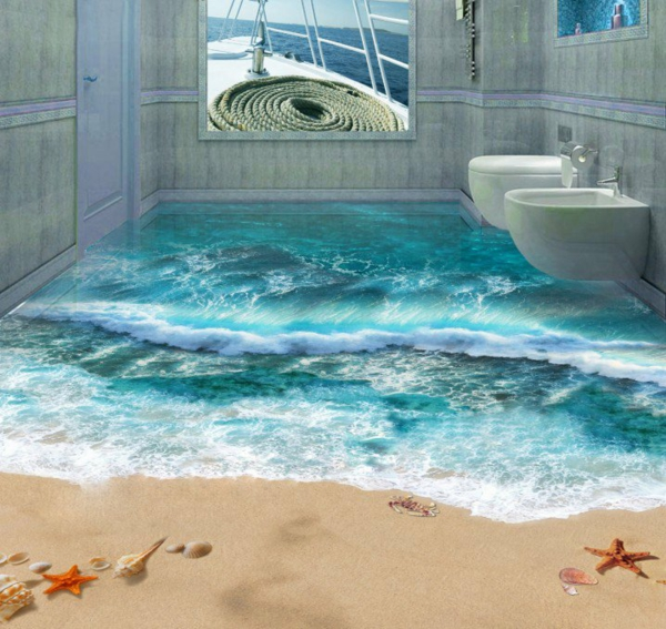 14 Unique 3D Bathroom Floor Designs (11)