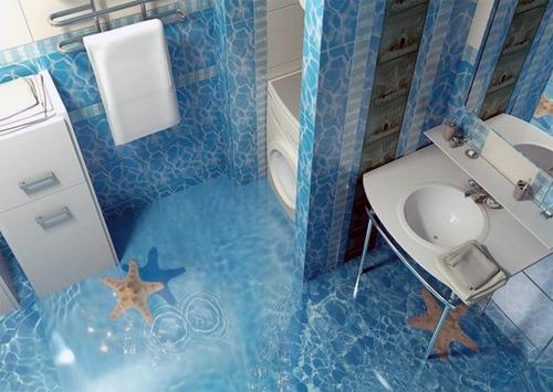 14 Unique 3D Bathroom Floor Designs (12)