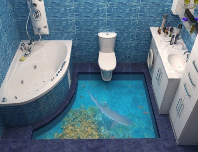 14 Unique 3D Bathroom Floor Designs (13)