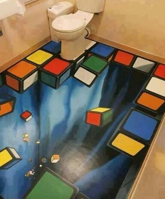 14 Unique 3D Bathroom Floor Designs (14)