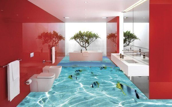 14 Unique 3D Bathroom Floor Designs (2)