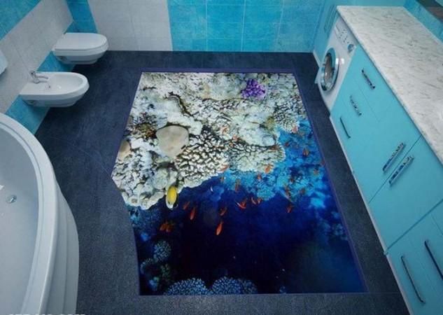 14 Unique 3D Bathroom Floor Designs (3)