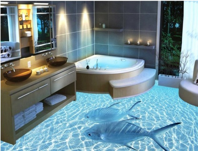 14 Unique 3D Bathroom Floor Designs (5)