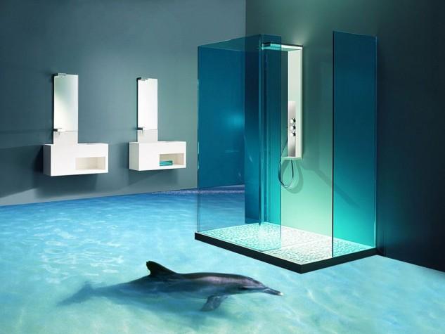 14 Unique 3D Bathroom Floor Designs (6)