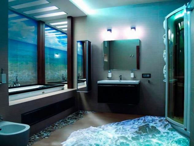 14 Unique 3D Bathroom Floor Designs (7)